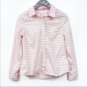 Old Navy Pink And White Button Down Blouse Medium